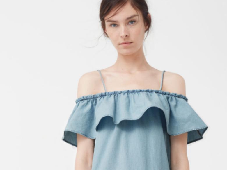 Vestido ganga folho (2999€)
