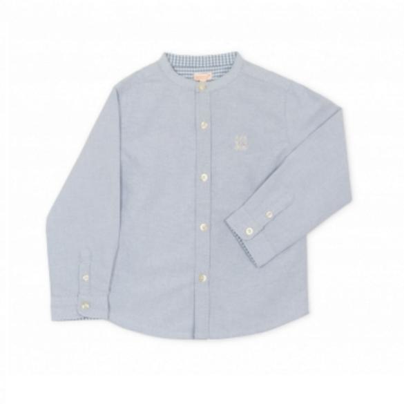 Camisa Oxford com detalhes em azul (26,99€, Metro Kids Company)