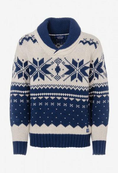 Camisa bicolor com padrão (29,99€ Tissofi)