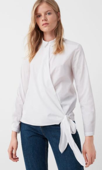 Camisa em popelina com laço (14,99€, Mango)