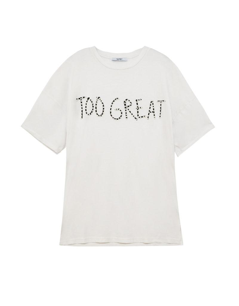 T-shirt com mensagem, 15,99€, Pull&Bear
