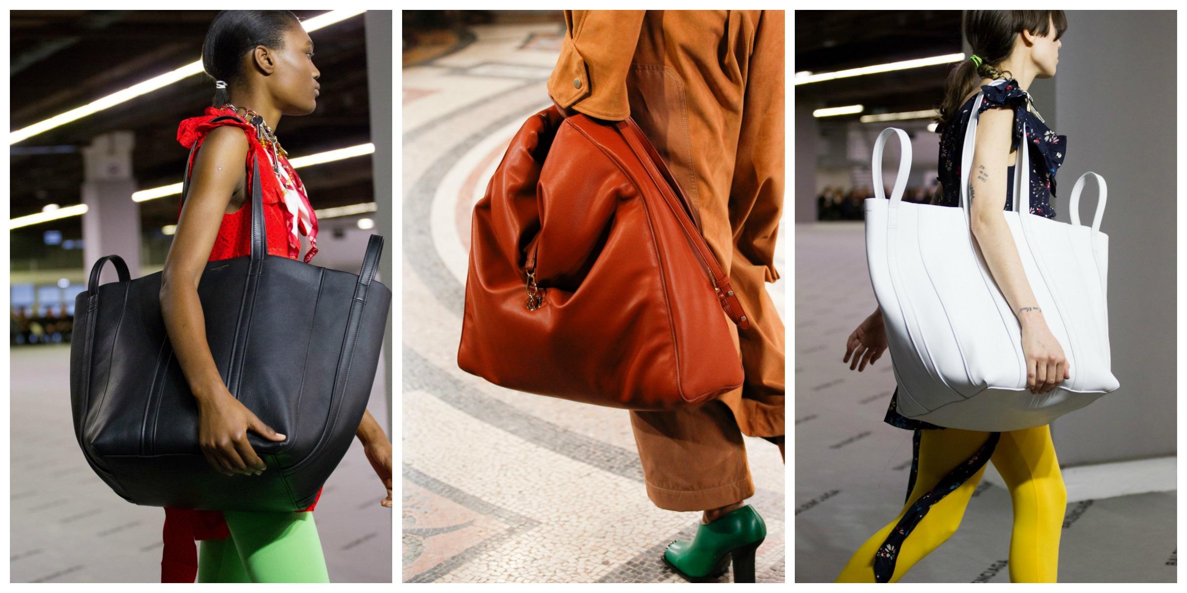 Oversized Bags | O Regresso! Quando achávamos que as carteiras grandes estavam a desaparecer de cena eis que volta a oversized bag, maior do que nunca! Mais uma afirmação de proporções exageradas que se junta a esta conversa de volumes.