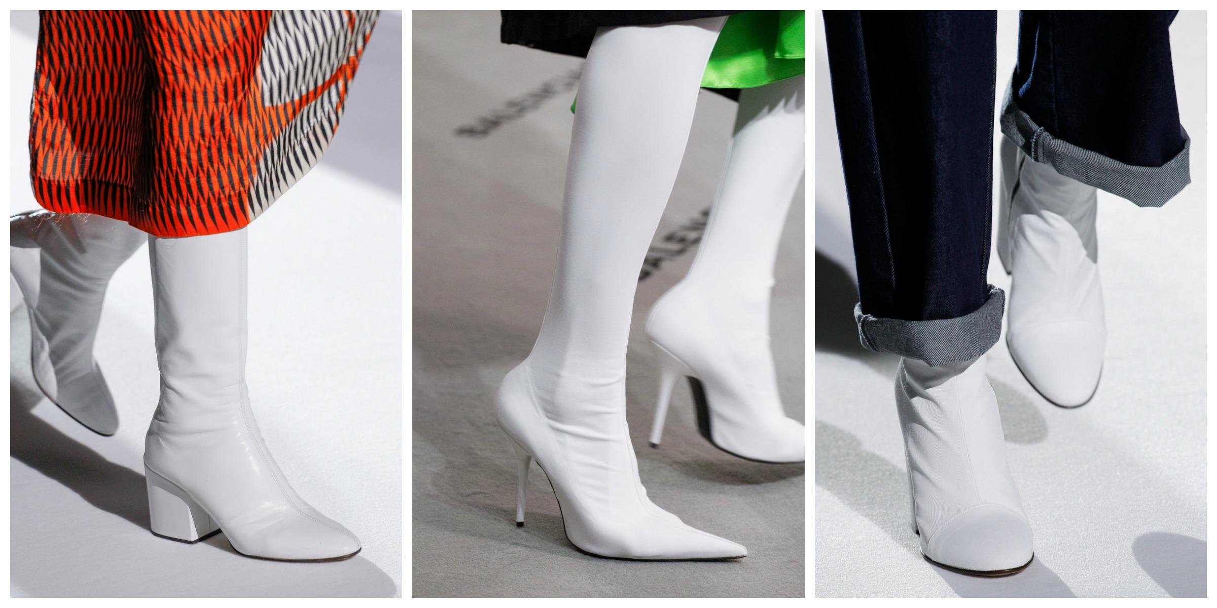 Botas Brancas | O Factor Cool ...um par de botas brancas! Muito vistosas e aparentemente difíceis de usar, as botas brancas passam a ser as mais desejadas e acabam por ficar bem com tudo! Funcionam particularmente bem com calças largas e curtas e saias ou vestidos leves.